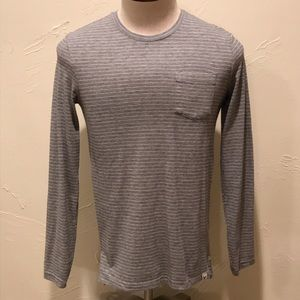 American Eagle Seriously Soft Men XS Gray LS Shirt